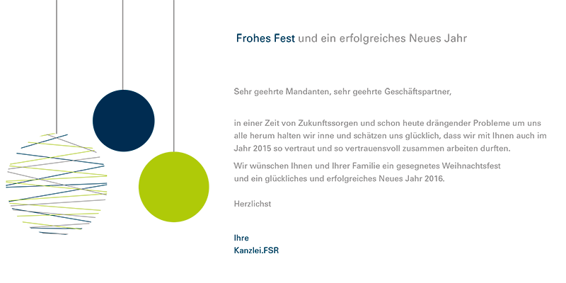 Kanzlei FSR | Frohes Fest